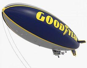 3D Good Year Blimp zeppelin
