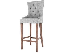 Padded Bar stool 3D model