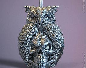 3D printable model Skull and owl vol1 pendant