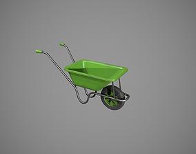 Green Wheelbarrow 3D asset
