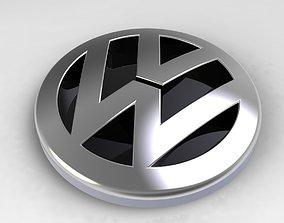 Volkswagen Logo car volkswagen 3D model