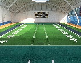 3D asset Indoor American Football Field