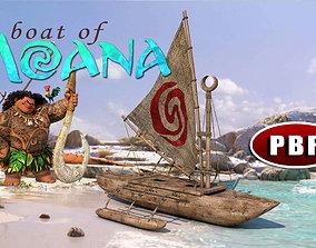 3D The Boat Of Moana