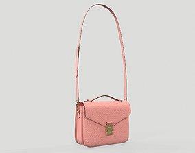 Louis Vuitton Pochette Metis Bag Monogram Rose 3D model 1