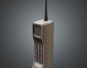 3D asset 80s - Cellular Phone
