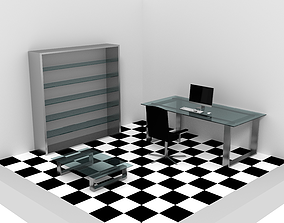 3D model VR / AR ready Modern Office 1