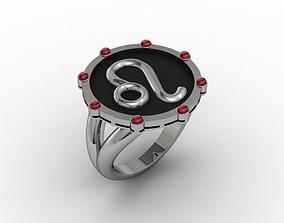 3D print model Leo ring 001 pendant