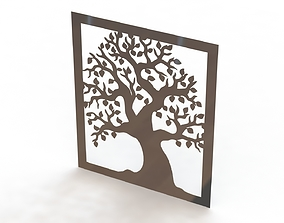 Tree steel painting 3D print model