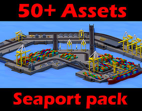 Sea port gta sa style 3D asset