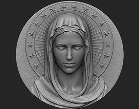 3D printable model jewelry Virgin Mary Medallion no 1