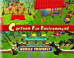 Cartoon Fun Environment 3D asset