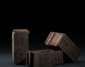 Crate-1 3D model VR / AR ready