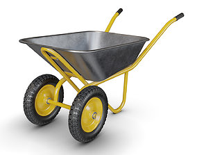 3D Wheelbarrow Yellow