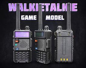 3D model low-poly Walkie Talkie
