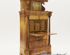 Biedermeier secretaire - Germany about 1820 - 3D model 1