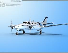 rigged Falcon3D E90 King Air F10