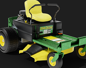 3D High Poly Riding Lawnmower