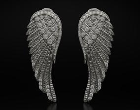 3D printable model Stylish earrings wings 594