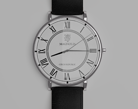 3D asset Photorealistic Silver Wristwatch
