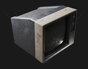 3D asset VR / AR ready Old Tv