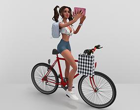 3D model Bike Girl