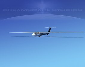SZD-36 Cobra Glider V03 3D asset rigged