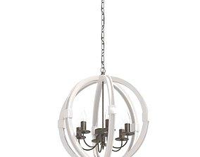 3D model Custom made globe chandelier 6 light