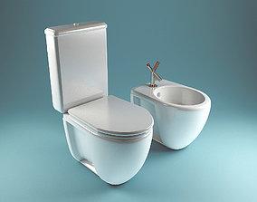 Vileroy boch Toilets Set 3D model