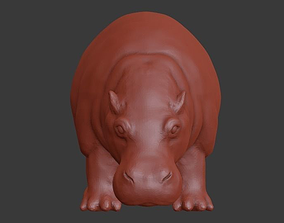 Hippo 3D print model sculptures