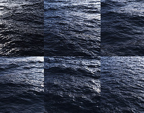 3D model Ocean Displacement Map SET