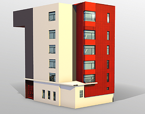 Modern building 3D asset low-poly