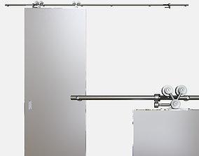3D model Door opening system Exterus sliding system
