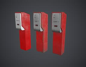 3D asset Parking Ticket Dispenser 2 Game Ready