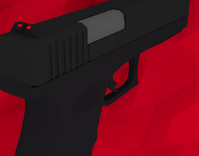 Low-Poly Glock 19 3D asset