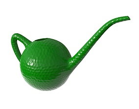 Watering can plastic colored 3D model