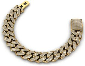 3D print model 16 MM MIAMI CUBAN LINK CHAIN 3 ROWS 2