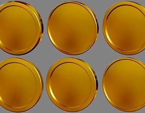Coins 3D asset game-ready