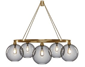 Solitaire Chandelier - Crate and Barrel 3D