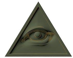christian All seeing eye of God 3D model