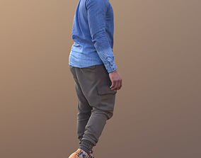 Gabriel 10630 - Walking Casual Man 3D model
