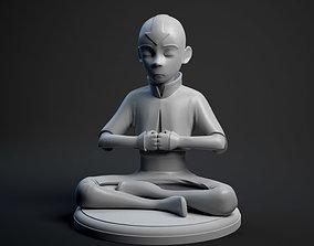 3D print model Aang meditation