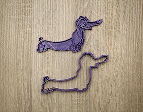3D print model Cookie form dog dachshund 3