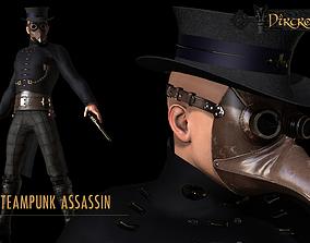 Steampunk Assasin 3D model