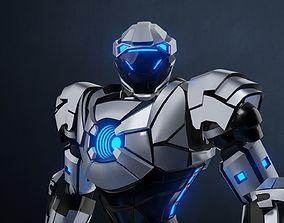 Robot character mecha game asset 3D model