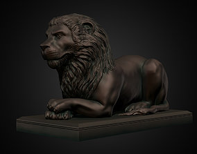 Lion Statue print and rendering