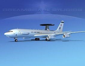 3D model Boeing E-3C Sentry AK USAF