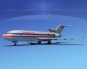 Boeing 727-100 American Airlines 3 3D