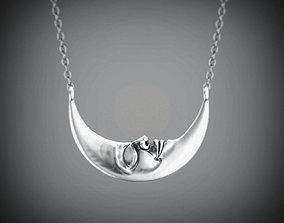 3D printable model Moon face pendant