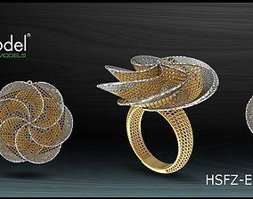 romance Electro-Fusion Fashion Ring 3D printable model