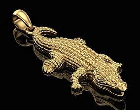 Pendant Little Crocodile 3D print model